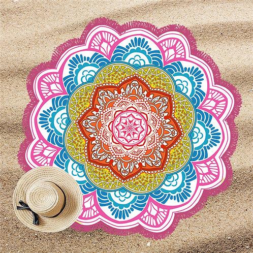 Mandala Lótus Beach Pool Towel Pink