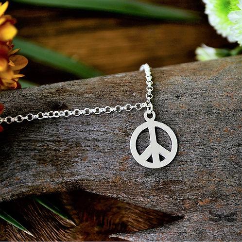 Pulseira c/ Peace and Love Symbol