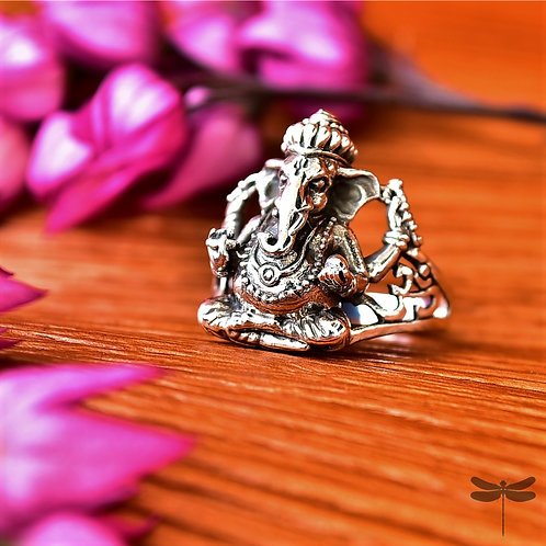 Anel Prata Bali Ganesha