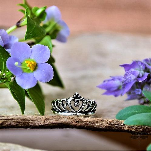Anel Prata Coroa Liso