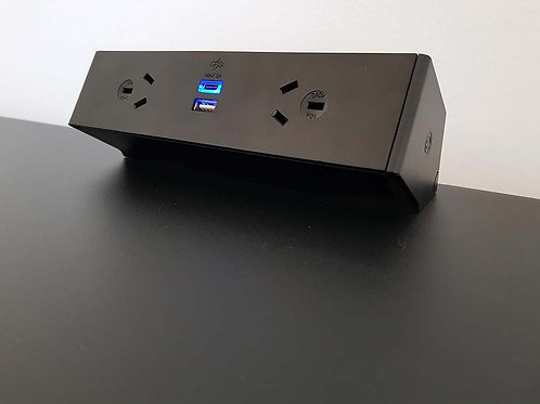 XYNERGY Above Desk Power Rail with USB A + C Charger (5 Amp)