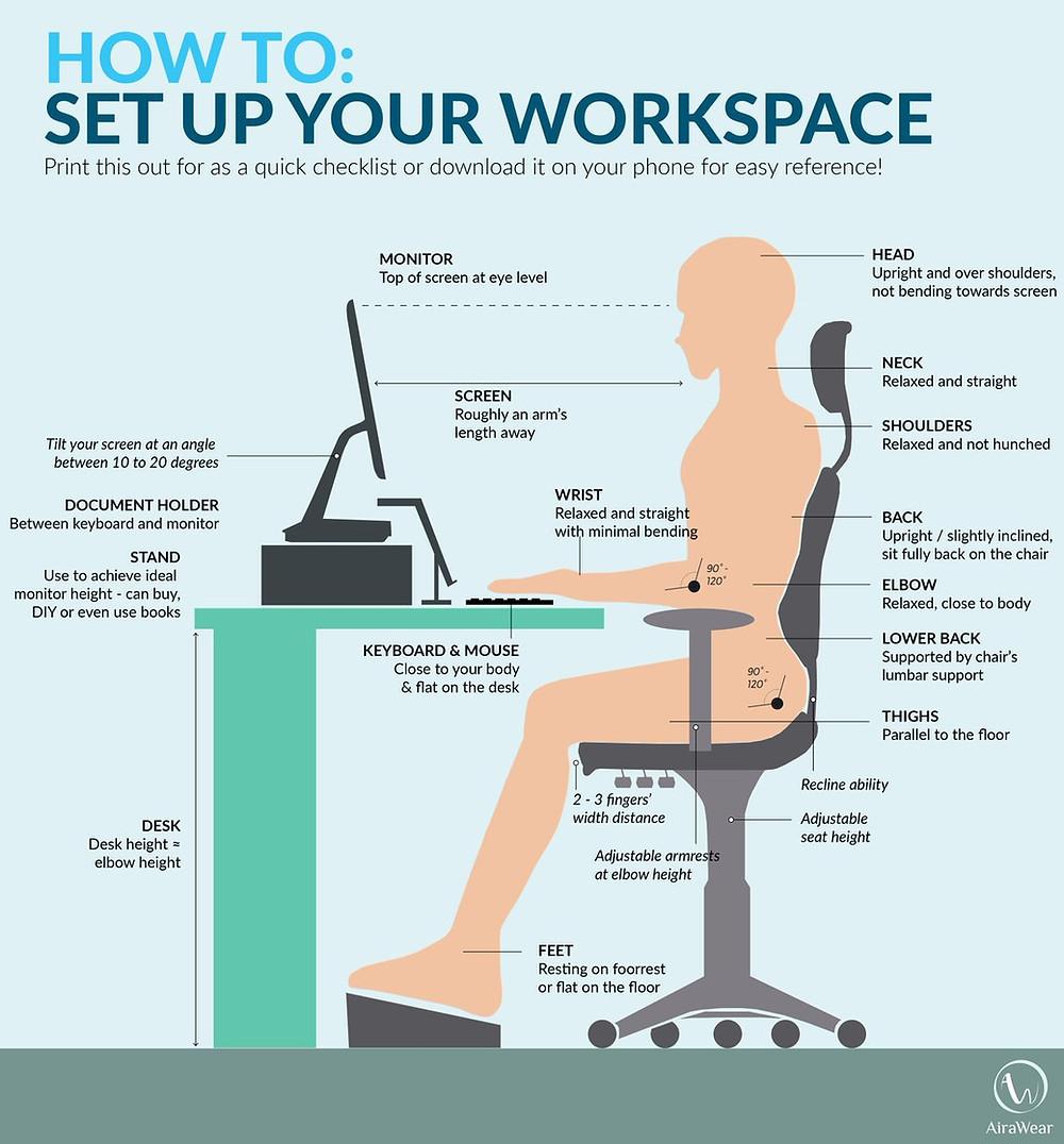 - How To Setup An Ergonomic Workspace