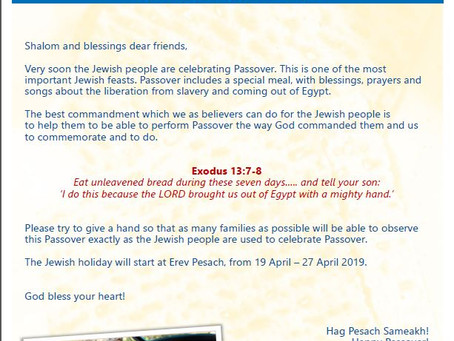 Help Sabra to Help this Passover!