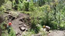 tread work on east railroad canyon trail