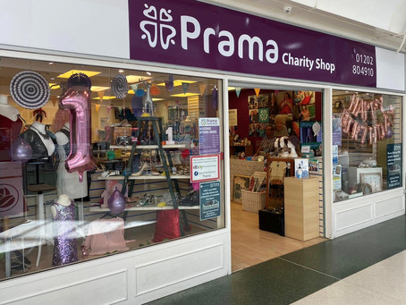 Prama Boscombe Charity Shop Celebrates First Birthday in Sovereign Centre