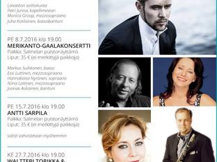 Merikanto-gaalakonsertti Mäntyharjulla heinäkuussa