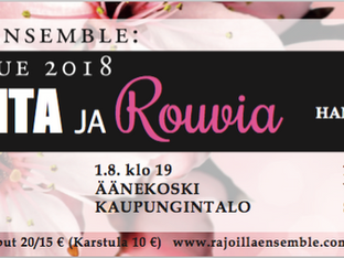 Rajoilla Ensemblen kesäkiertue Karstulassa, Äänekoskella ja Viitasaarella heinä-elokuussa.