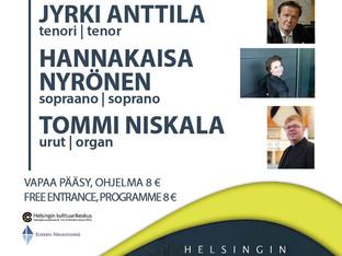 Helsingin Urkukesä -festivaalin avajaiskonsertti Kallion kirkossa