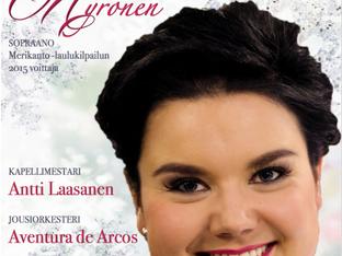Jousiorkesteri Aventura de Arcosin joulukonsertin solistiksi Seinäjoen Lakeuden Ristiin