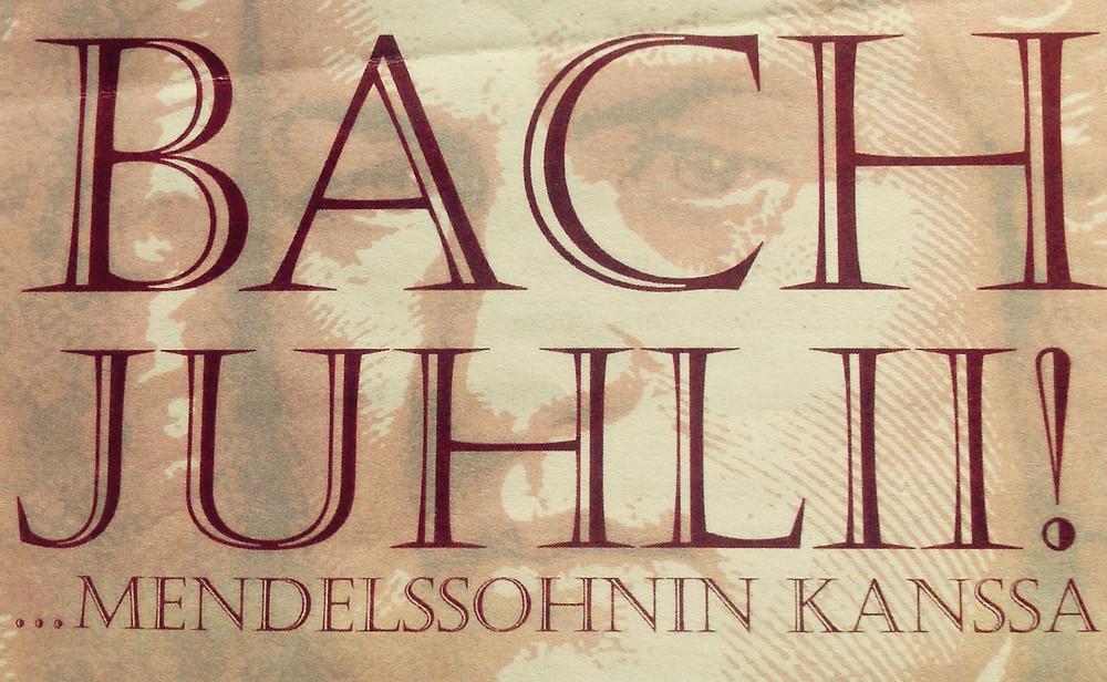 Bach juhlii Mendelssohnin kanssa Tapiolan kirkossa 1.2.2015