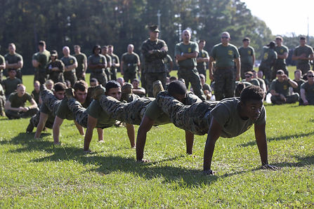 Marines excercising at Chery Point