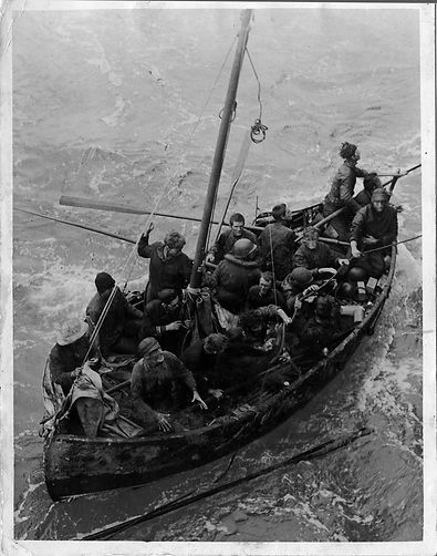 WW II rescue boat with acute PTSD