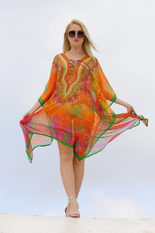 שמלת חוף שיפון