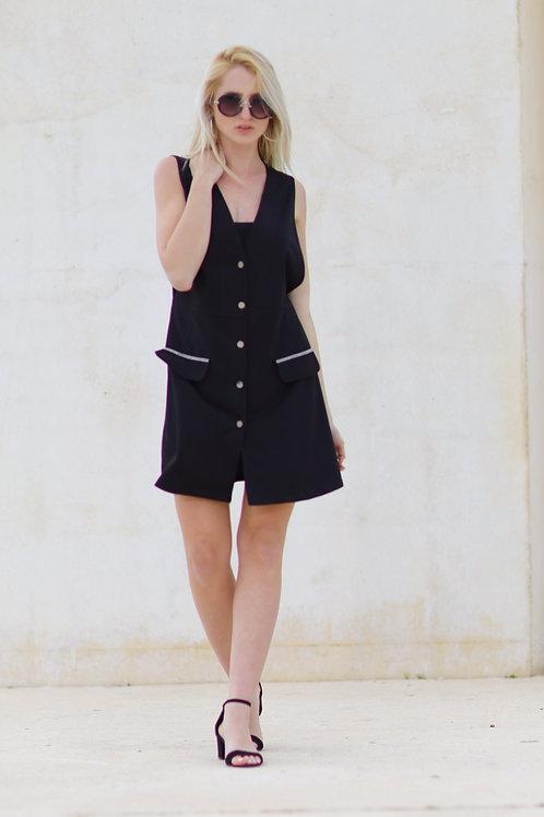 שמלת כפתורים כיסים
