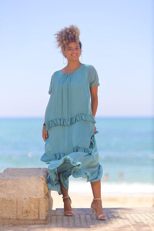שמלת משי ויולה
