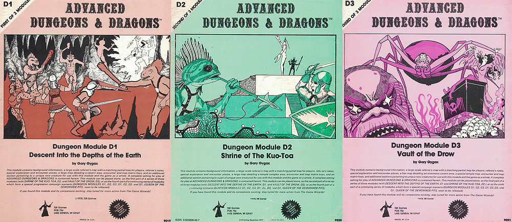 Original monochrome covers for D1, D2, and D3 from 1978.