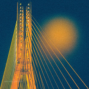 Bridge and the beam of light
