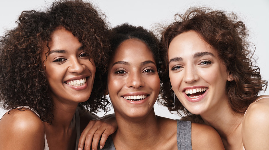 Portrait of three young multiracial wome