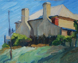 Cream house by Ronald C Bell