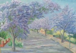 Jaccarandas Flowers By Ronald C Bell