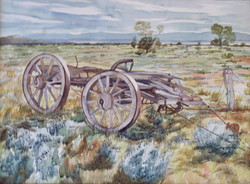 Old wagon by Ronald C Bell