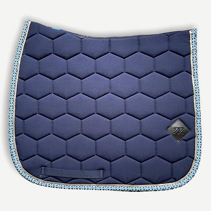 Oxxer - Tapis Monogramme bleu marine dressage