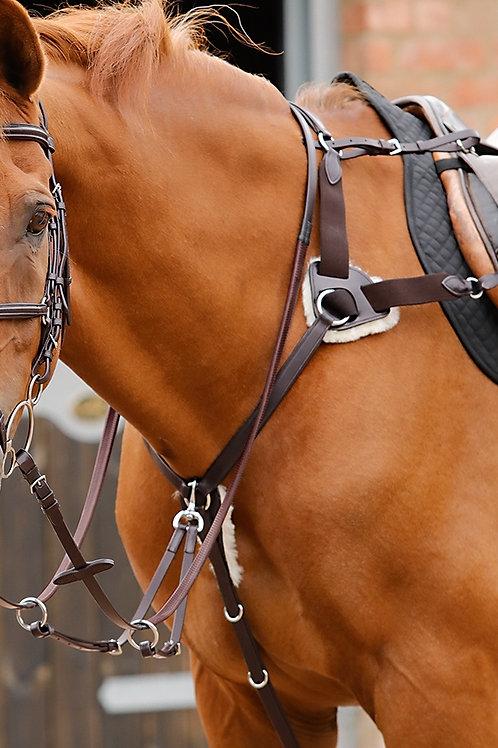 Premier Equine - Collier de chasse 5 points marron