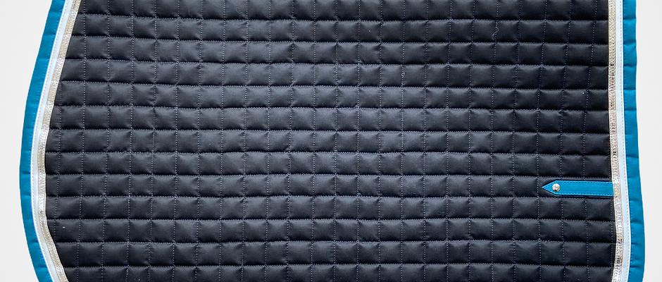 Silver Crown - Tapis US noir, blanc, argent et bleu canard
