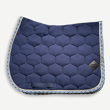 Oxxer - Tapis Monogramme bleu marine mixte
