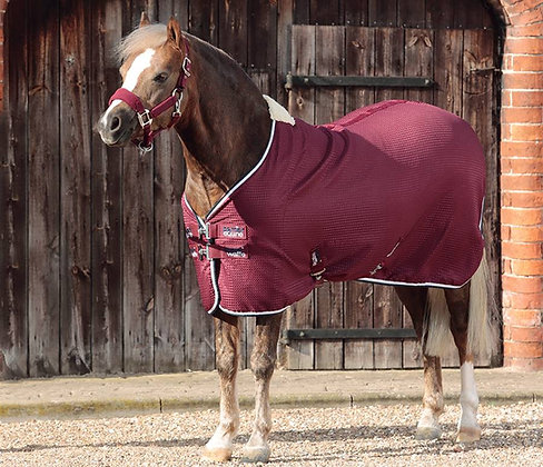 Premier Equine - Couverture séchante bordeaux poney
