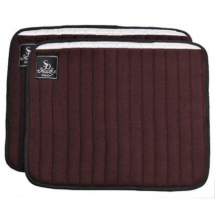 SD Design - Flannelles à paillettes marron/argent