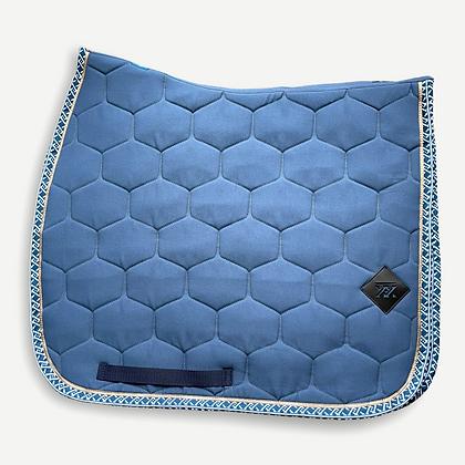 Oxxer - Tapis Monogramme bleu glacier dressage