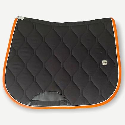 GEM - Tapis Mixte noir blanc et orange
