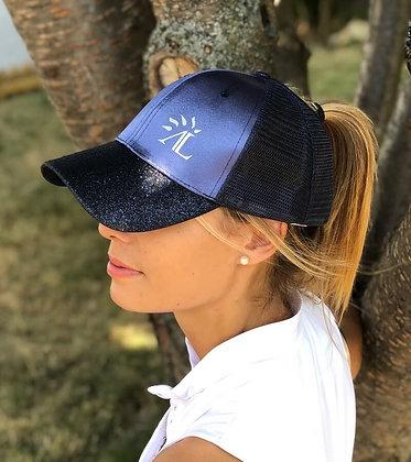 Alexandra Ledermann - Casquette Neredith bleue finition pailletées