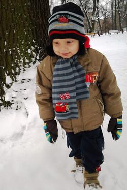 Ostatni spacer po śniegu