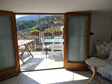 Casa Maria kitchen with panoramic terrac