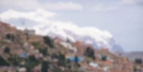 La Paz, Bolivia and Illimani mountain