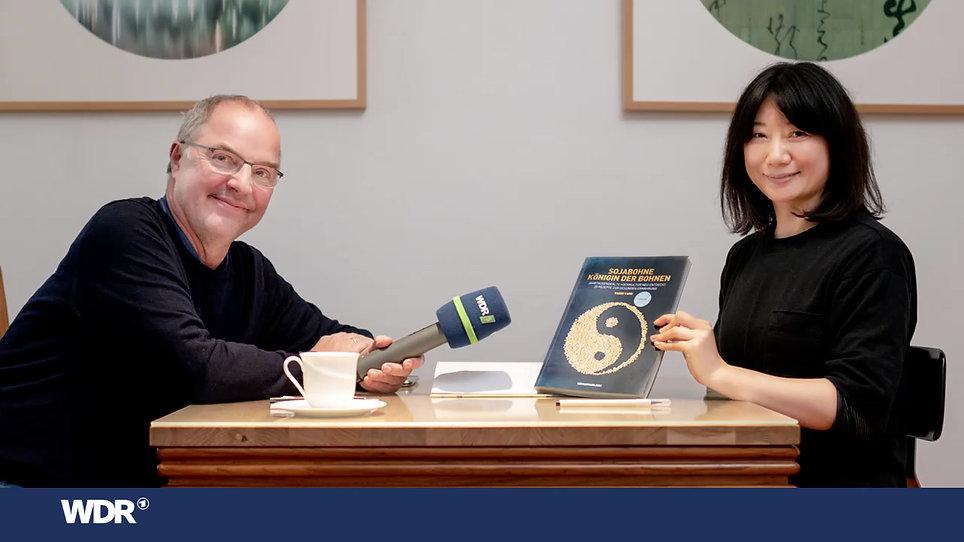 """So gut kann Soja schmecken! Yaxin Yang im Interview im WDR 5: """"Alles in Butter"""" mit Herren Gote Moderation: Helmut Gote, Carolin Courts"""