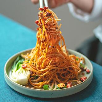Liang Mian Sezchuan kalte Nudeln  vegan