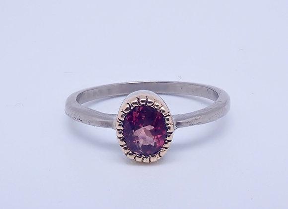 Palladium, 18ct Gold and Tourmaline Ring