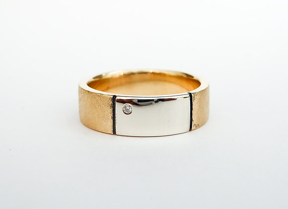 Yellow and White Gold Band