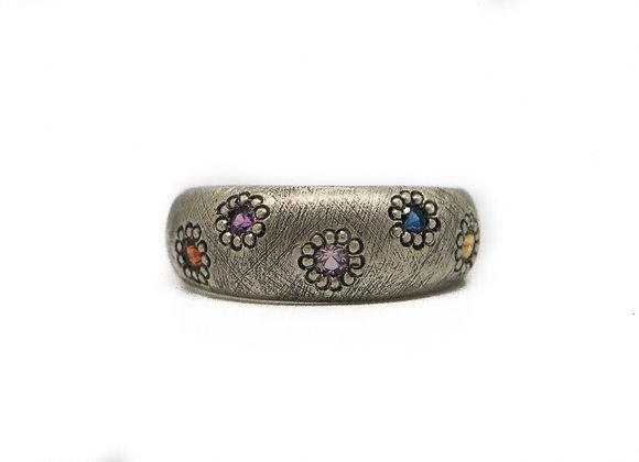 Multi Coloured Sapphire Maisy Ring