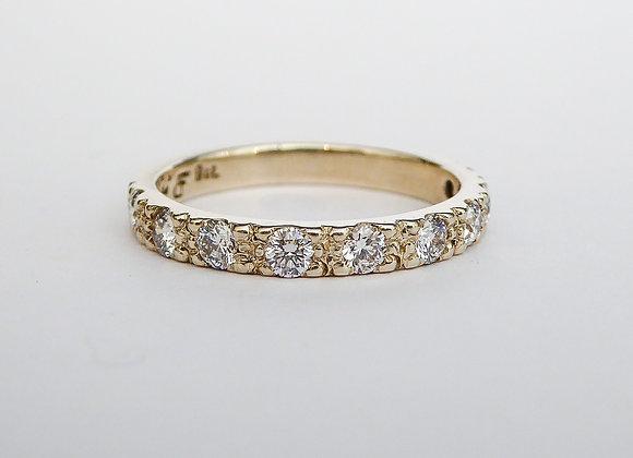 9ct White Gold and Diamond Band