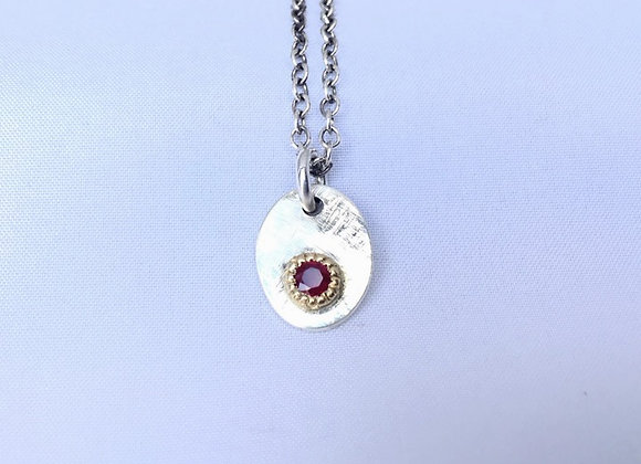 Stg and Ruby Tag Pendant