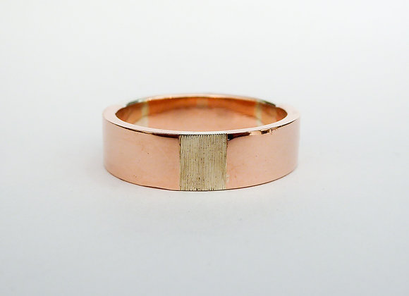 Rose Gold and White Gold band
