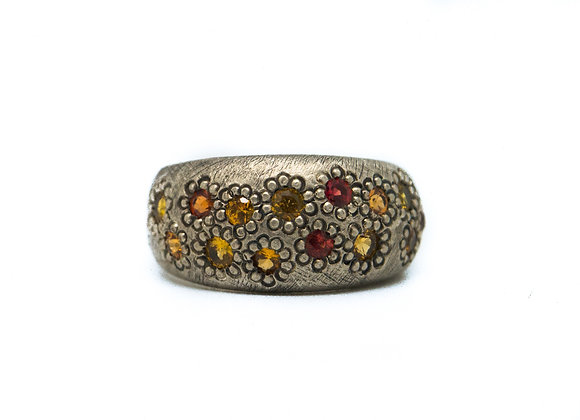 Yellow and Orange Sapphire Maisy Ring