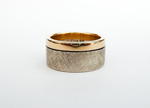 Stg and 9ct Gold Wide Band