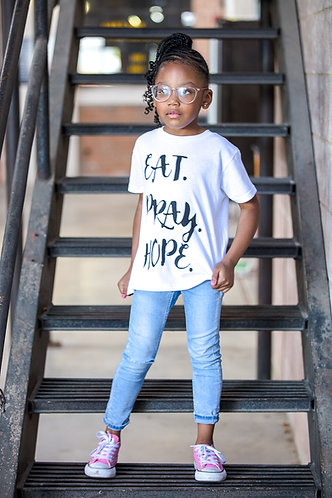 EAT. PRAY. HOPE.® SCRIPT KIDS T-SHIRT