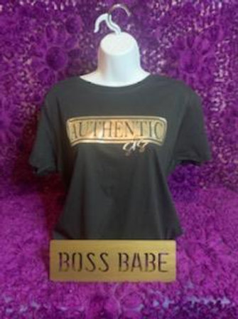 Authentic Sis T-Shirt (Black&Gold)