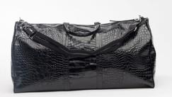 Black Alligator Duffle